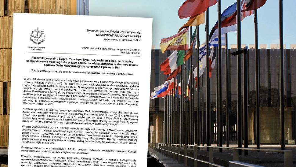 8d1282bee6370f Rzecznik TSUE: przepisy dot. sędziów SN sprzeczne z prawem UE